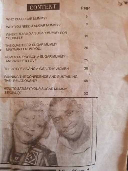 Nigerian man shares photos of 'how to get a Sugar Mummy' book he found in his father's wardrobe
