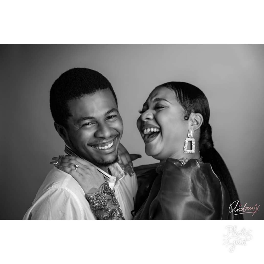 Actor Samuel Ajibola aka Spiff and his girlfriend, Sandra, are engaged