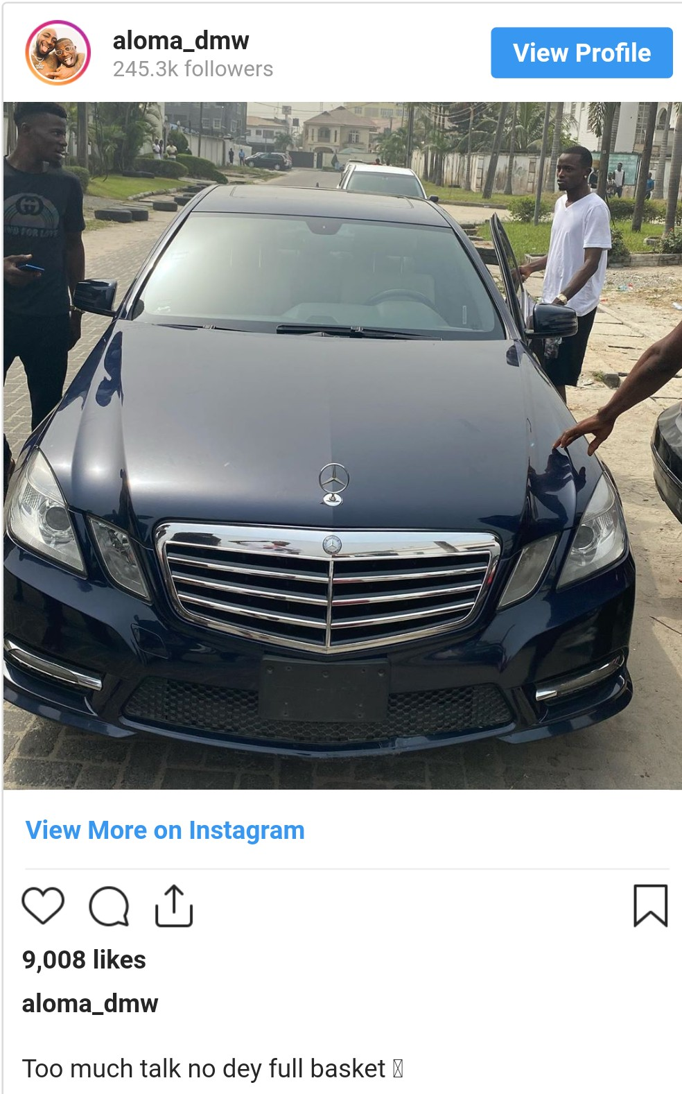 Davido's PA Aloma shows off brand new Benz (Photo)