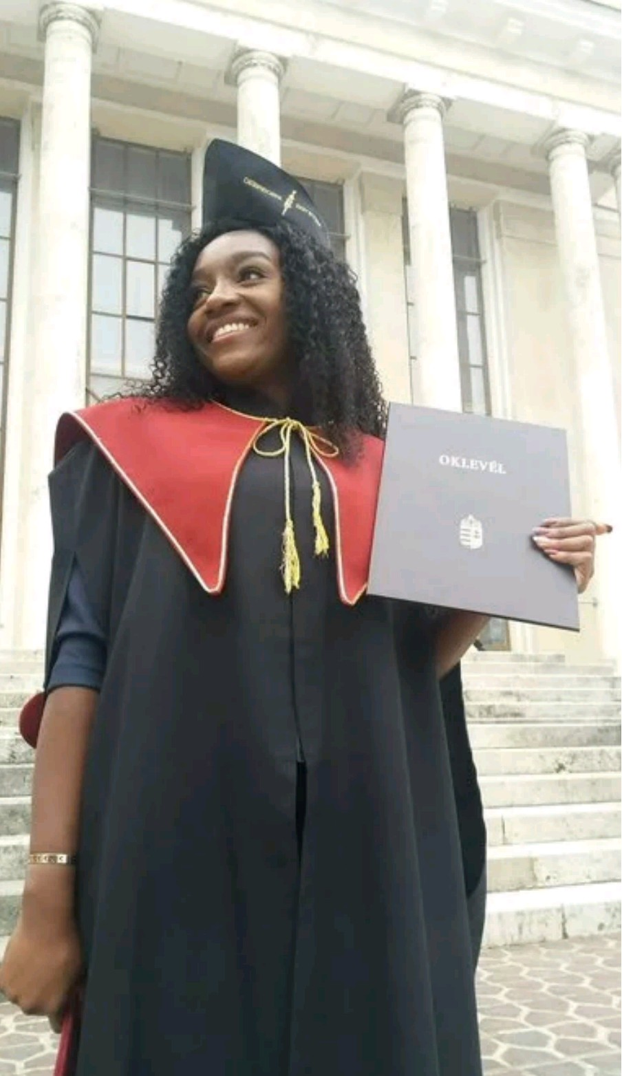 Nigeria girl graduates top of her class after she dumped medicine to study engineering in Hungary (photos)