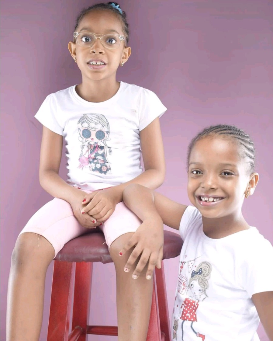 Singer 9ice celebrates his twin daughters as they mark birthday