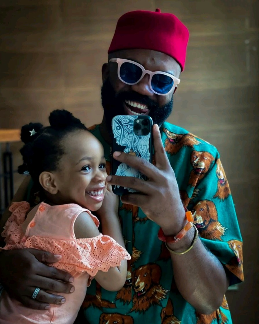 """""""I was more worried for my wife to live after child birth"""" – Noble Igwe writes as he celebrates daughter's 3rd birthday"""