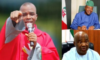 Moment Father Mbaka declared Hope Uzodinma as the new Governor of Imo State (video)