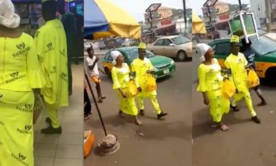 "Nigerian couple becomes the first to rock the ""new"" Balenciaga in Kwara State (Video)"