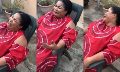 Nigerian mom bursts into dramatic tears after son tells her he is going back to school (video)
