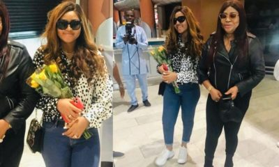 Rita Daniels arrives Cape Town in style with daughter Regina Daniels