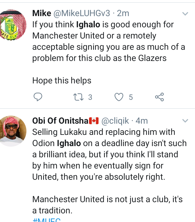 'Him don buy new laptop for the Babalawo wey help am' – Twitter Users react to reports of Man U. signing Odion Ighalo.
