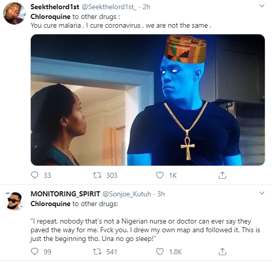 Nigerians reacts hilariously  as it's revealed that Chloroquine effectively inhibits coronavirus infection and spread