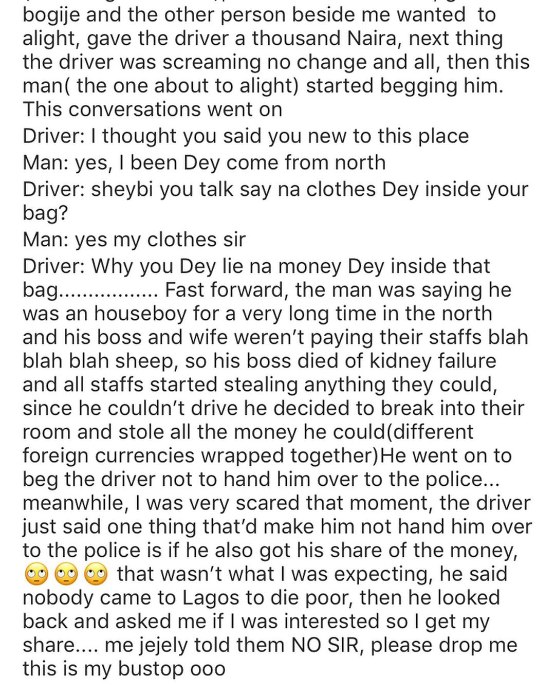 Lady shares her experience with One Chance Operators in Lagos (video)