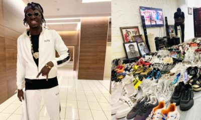 Comedian Akpororo shows off his impressive shoe collection