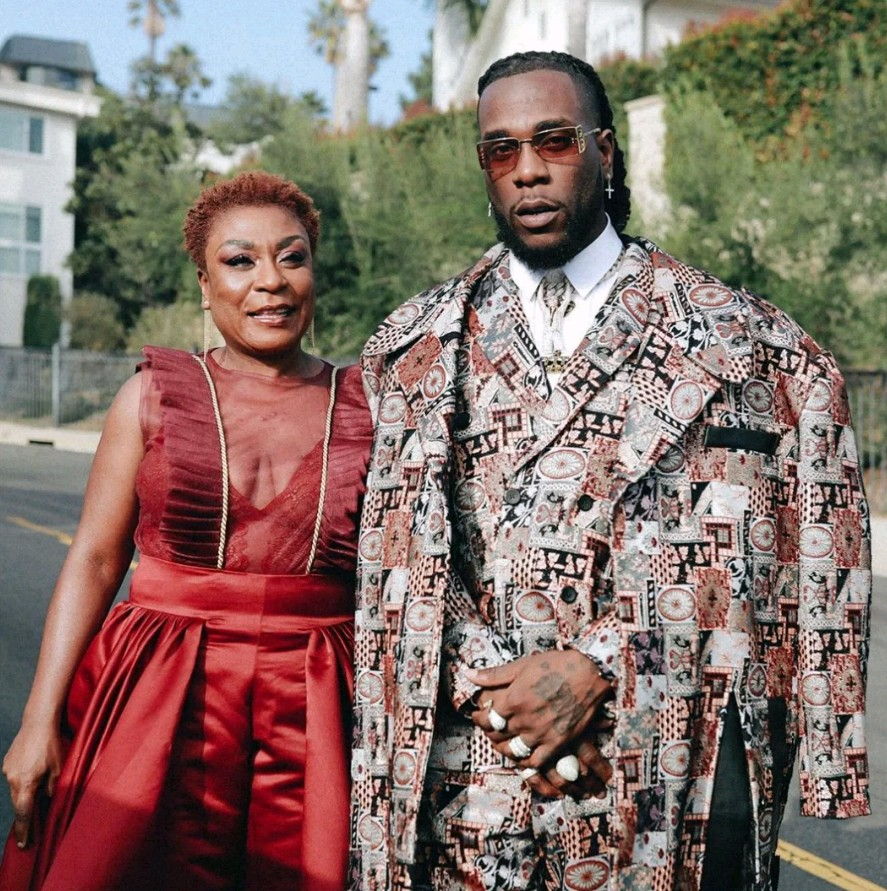 Burna Boy shares stunning photos with his mother, Bose Ogulu