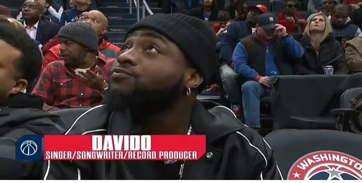 """I been dey form but make I no lie e sweet me"" die – Davido on being recognised during NBA match"