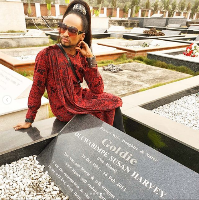 Denrele Edun Reveals Why He Keeps Visiting Goldie's Grave 7 Years After Her Death thumbnail