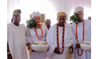Shina Peller and wife conferred with Chieftaincy titles in Epe