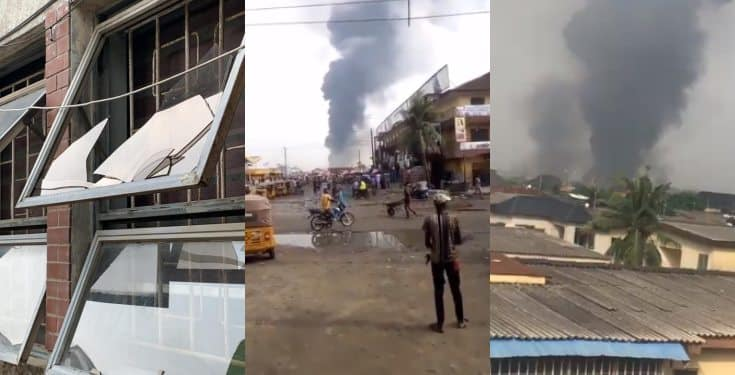 Another black Sunday in Lagos as pipeline explosion rocks community, many houses destroyed (video)