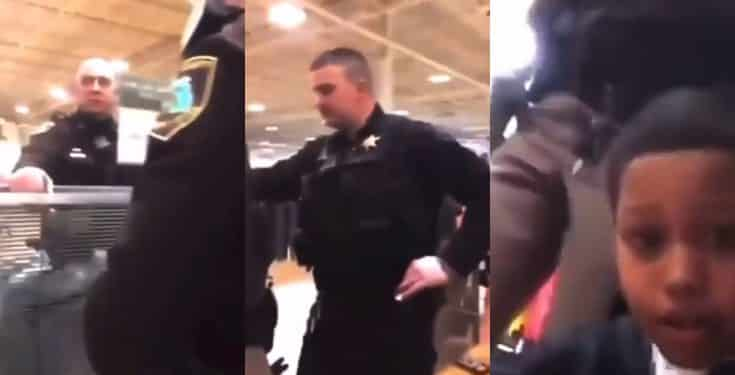 Boy gives police a piece of his mind after they accused him of shoplifting (video)