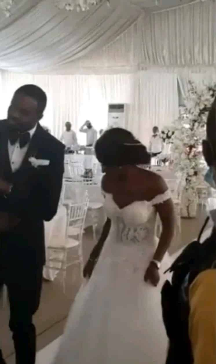 Nigerian couple dance into their wedding reception with no guest