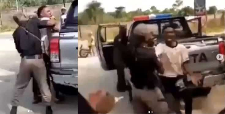 Man beaten by police officers while on his way to visit his mother in Delta State (video)