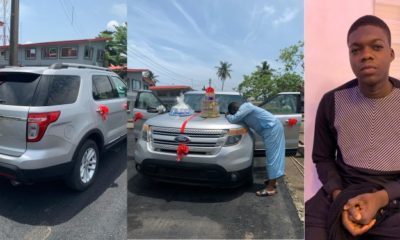 IG comedian Cute Abiola gets new car as birthday gift (Video)