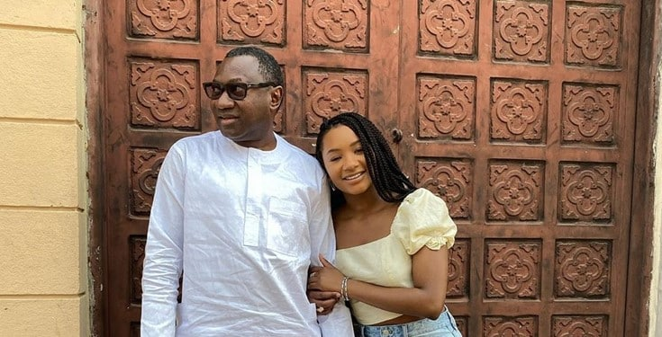 Femi Otedola replies a follower who indicated interest in dating his daughter Temi Otedola