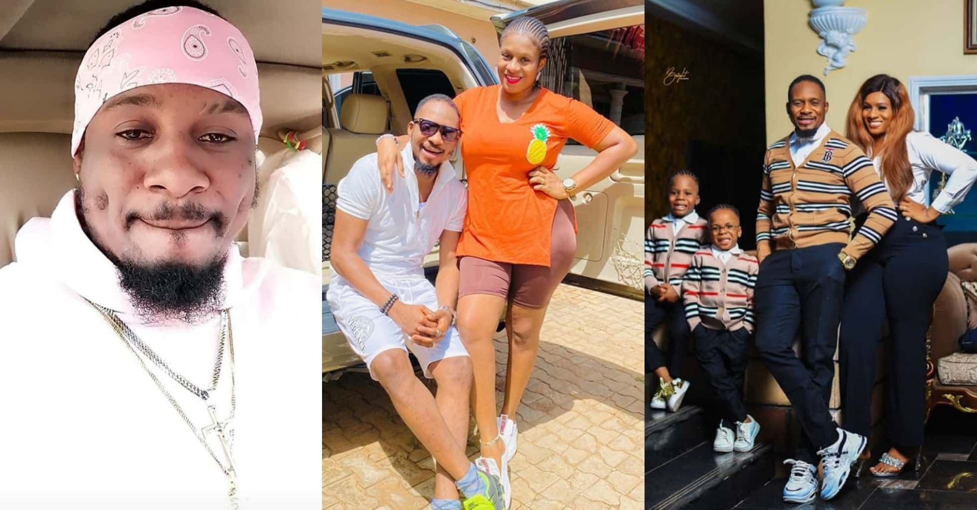 Wife pens down eulogies to celebrate her husband and actor, Jnr Pope's birthday