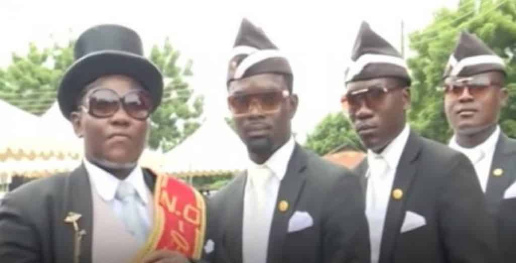 """Covid-19: """"Stay at home or dance with us"""" - Popular dancing pallbearers warn (video)"""