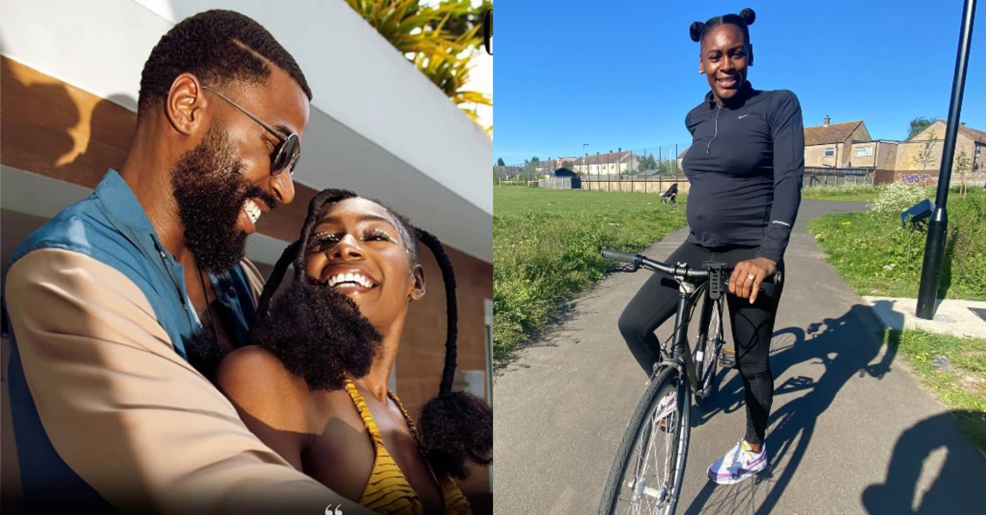 Perri, wife of BBNaija's Mike Edwards, hits the streets riding with baby bump