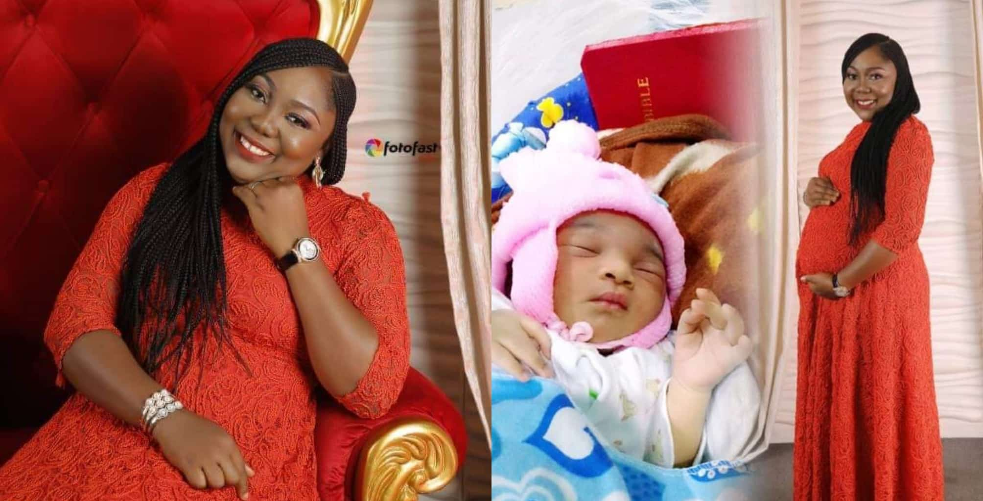 Lady gives birth after 2 years of pregnancy