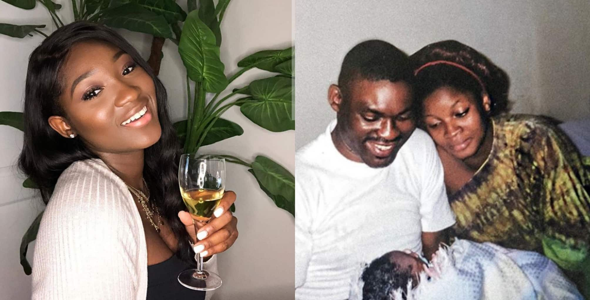 Omotola's daughter celebrates mum with 20-year-old photo of her parents