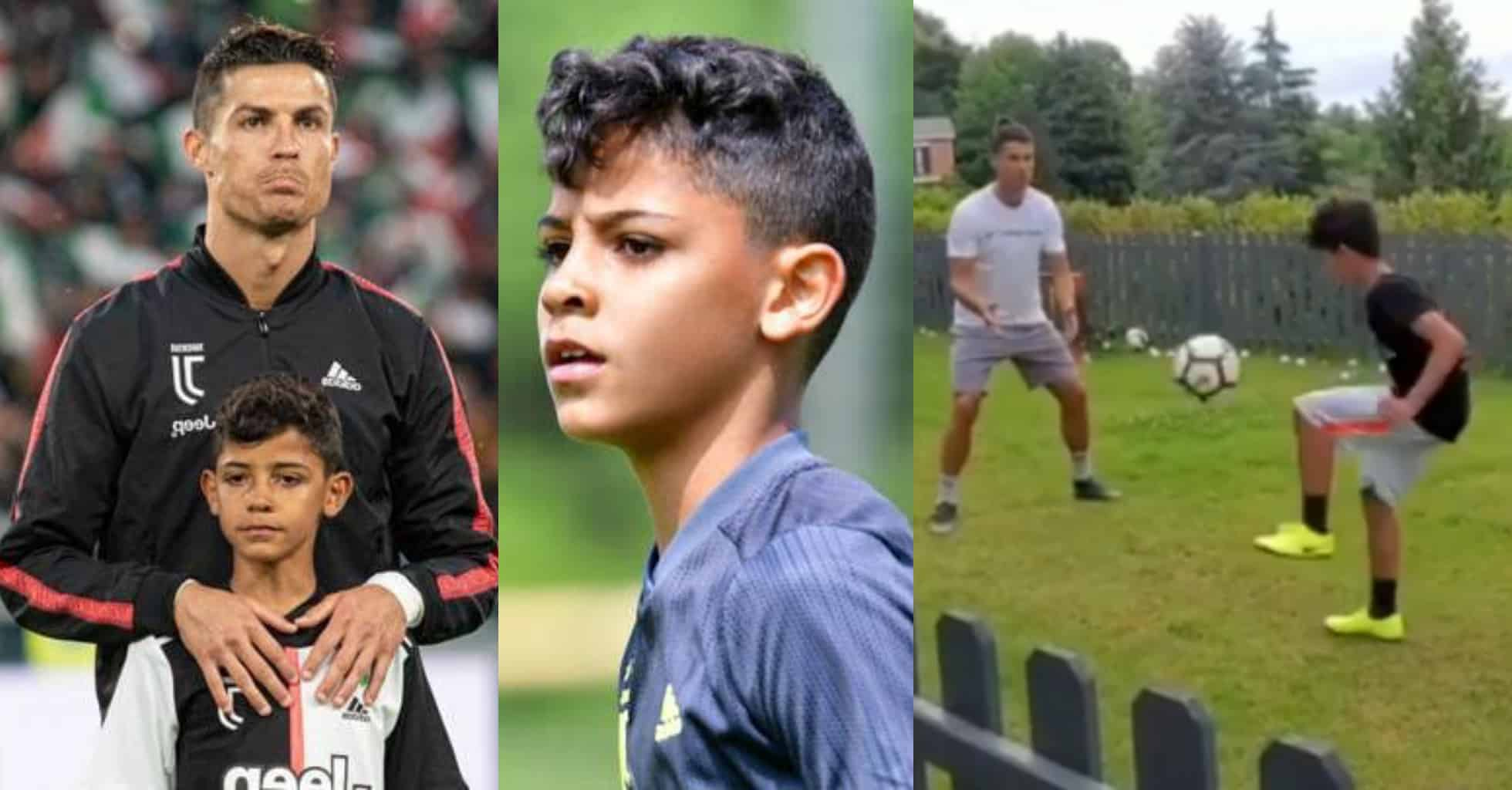 C.Ronaldo shares adorable video training with son