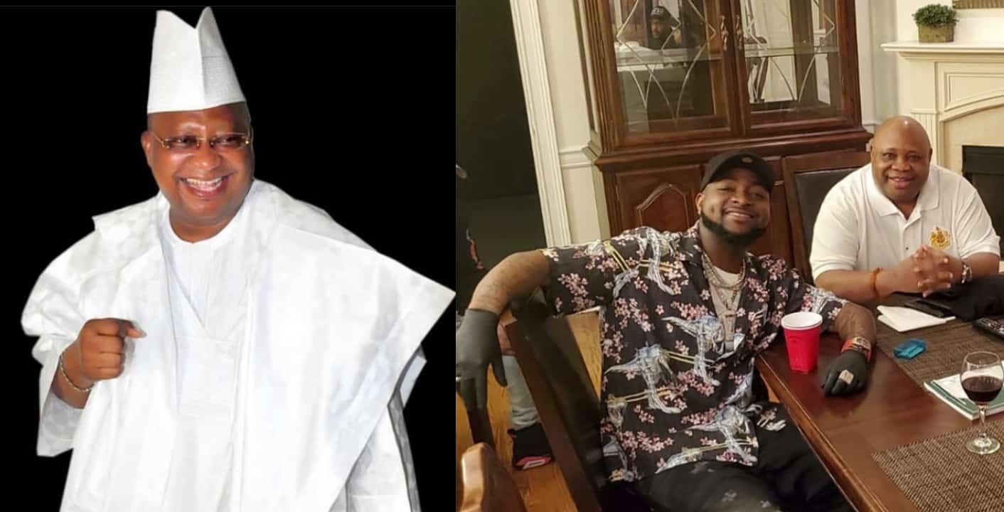 Davido celebrates uncle, Ademola Adeleke