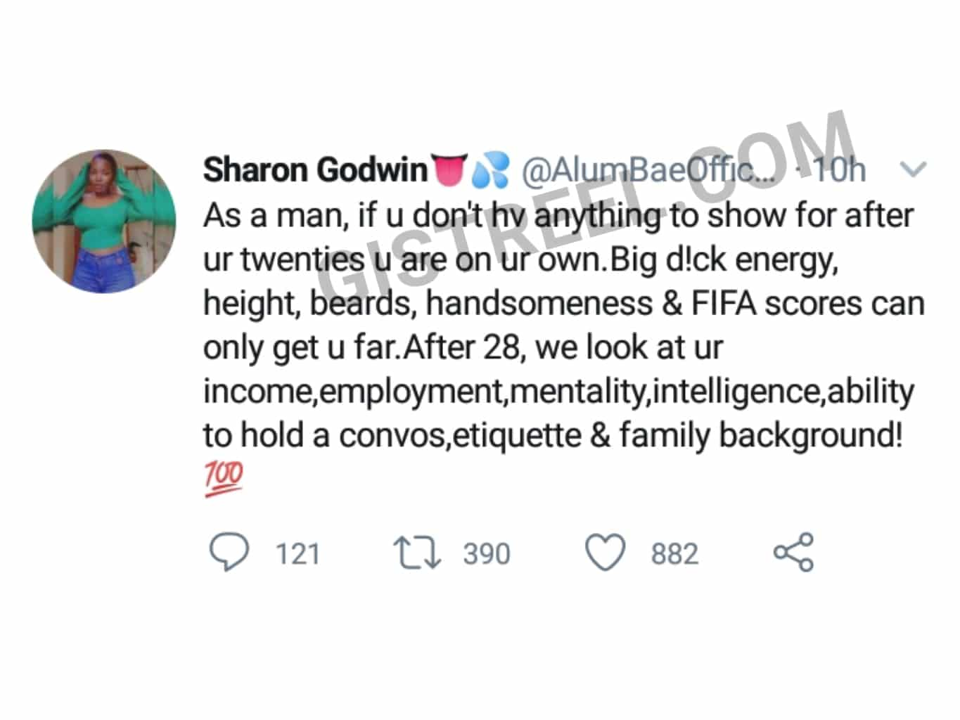 Ugandan lady advises young men to ensure they have something to show for after their 20s