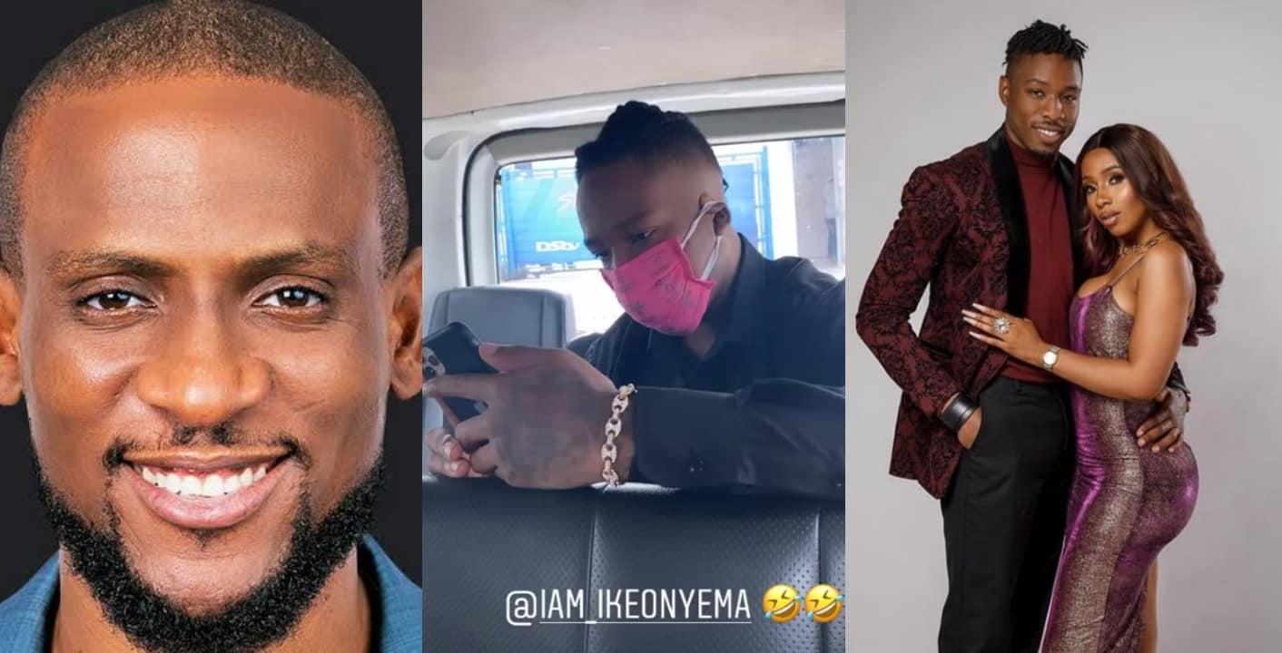 BBNaija's Omashola mocks Ike for wearing a face mask