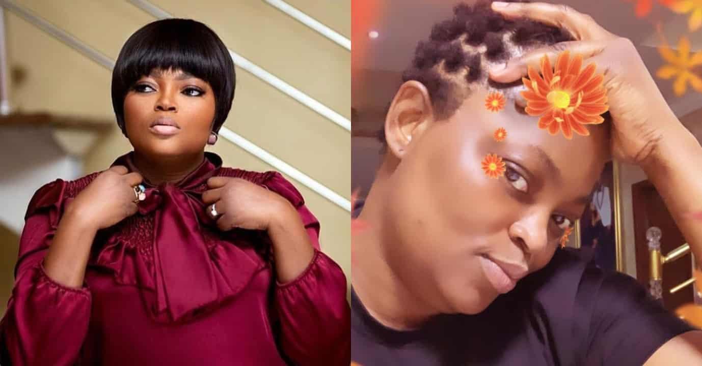 Funke Akindele puts her new hairstyle on fleek