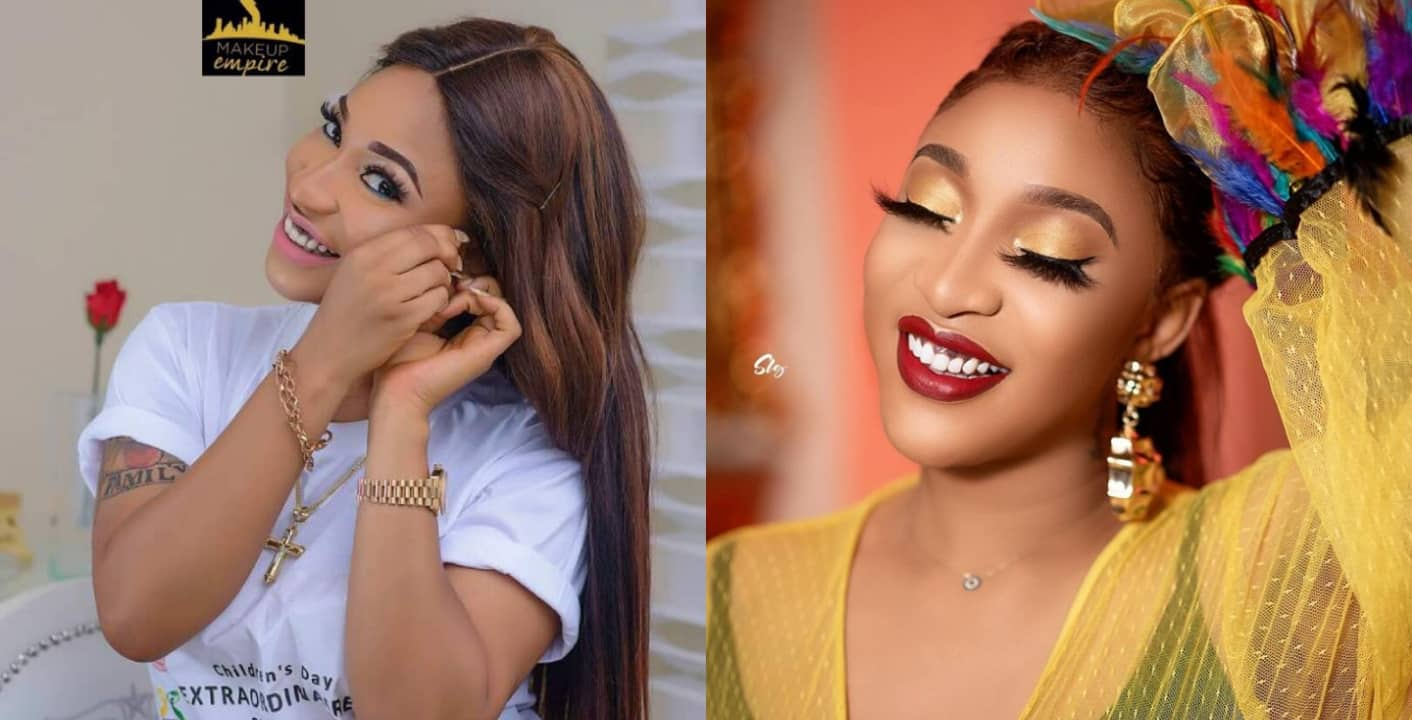 Tonto Dikeh threatens to slap follower who accused her of doing fake giveaway
