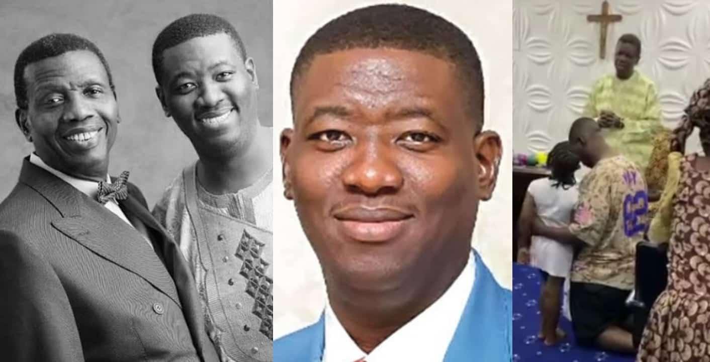 Pastor Adeboye prays for his son, Leke as he celebrates 38th birthday