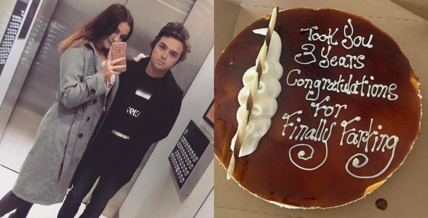 Man gifts girlfriend of 3 years cake after she farted in his presence for the first time