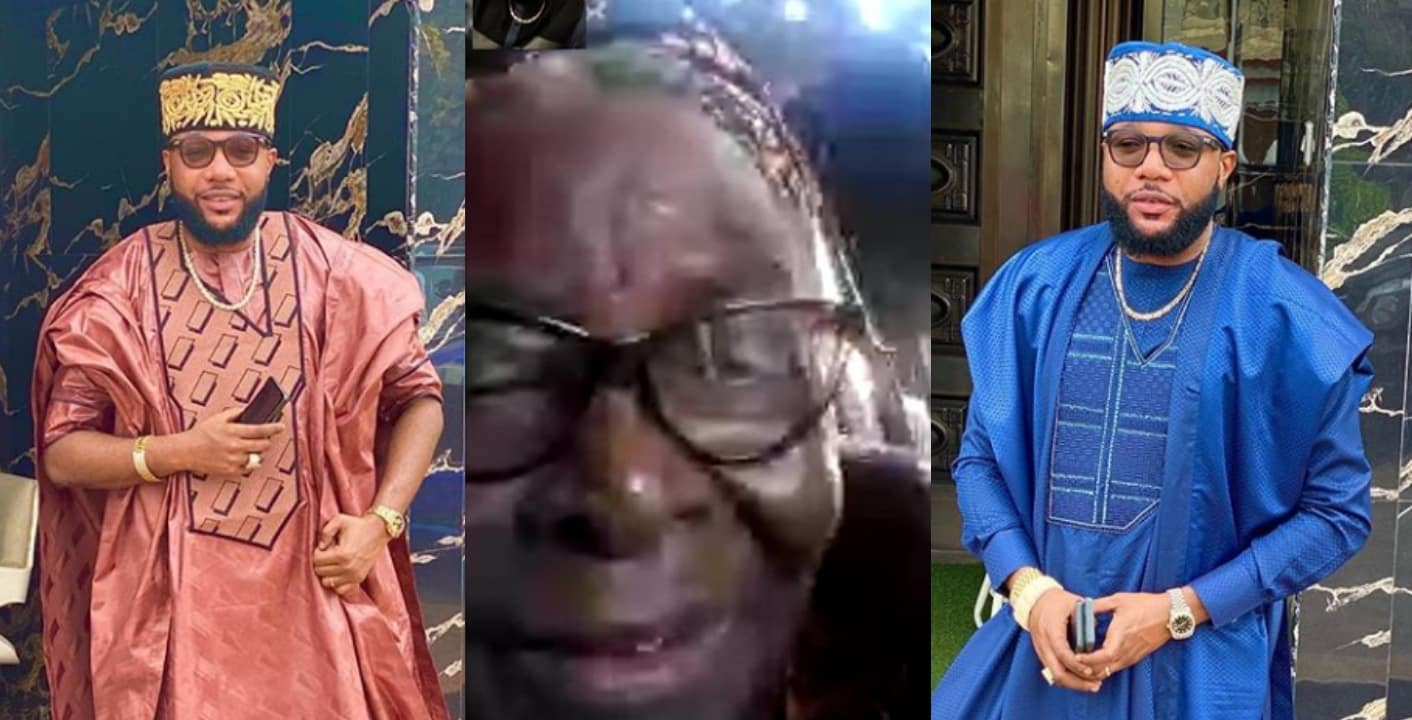 Old woman prays for E-money after he blessed her with N500k