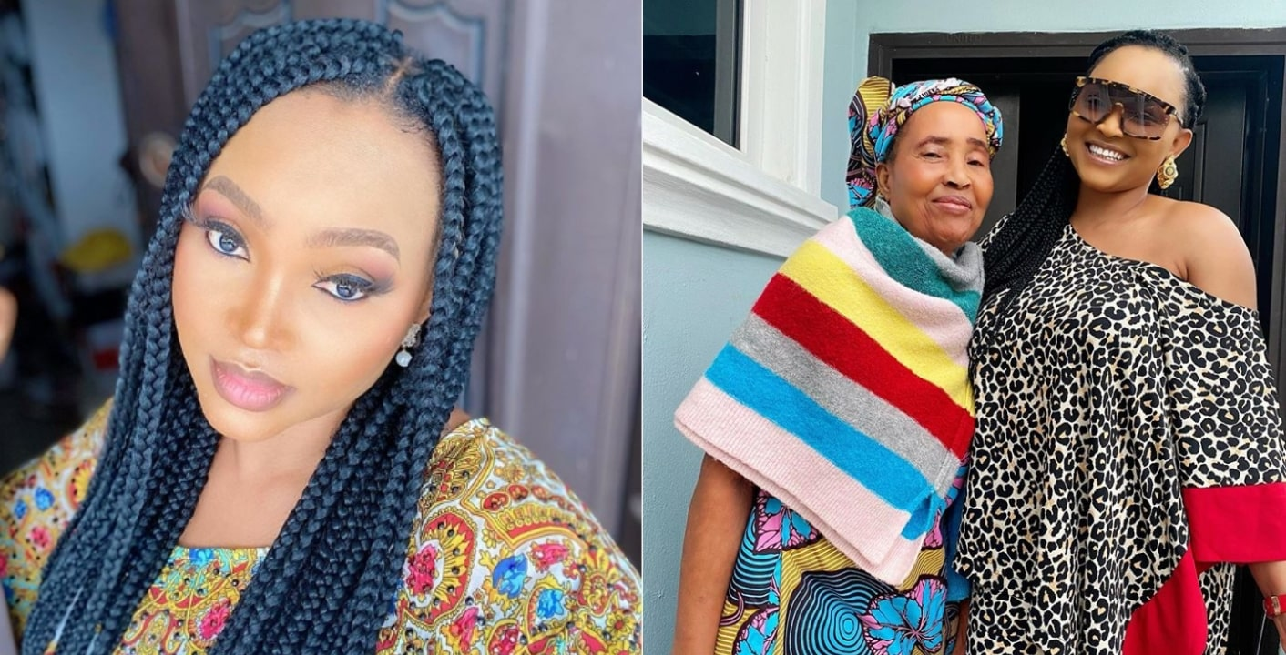Celebrities react as Mercy Aigbe shares rare photo of her lookalike mother