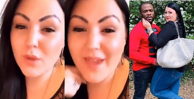 """""""True love exists between a black man and a white woman"""" - Oyibo lady says (Video)"""