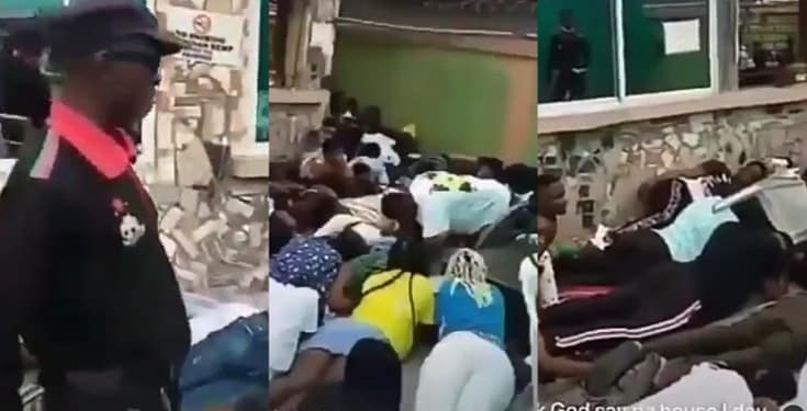 Social distancing defaulters punished in Delta State (Video)