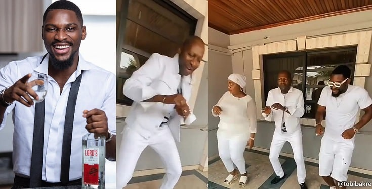 Family Goals: Tobi Bakre and family show off crazy dance moves (Video)