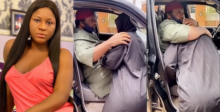 Destiny Etiko In Tears As Pete Edochie Visits Her After Her Father's Death