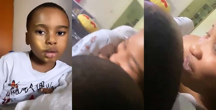 Tonto Dikeh and her son, Andre serve mother-son goals in adorable video