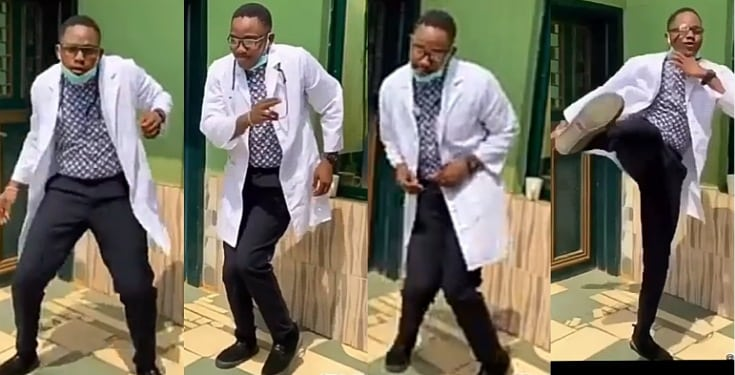 "Nigerian Doctor Shows Off His Incredible ""Legwork"" Dancing Skills"