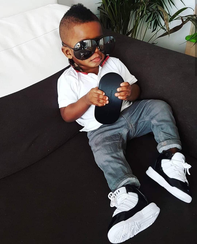 Jim Iyke shares adorable photo of his son, Harvis Chidubem
