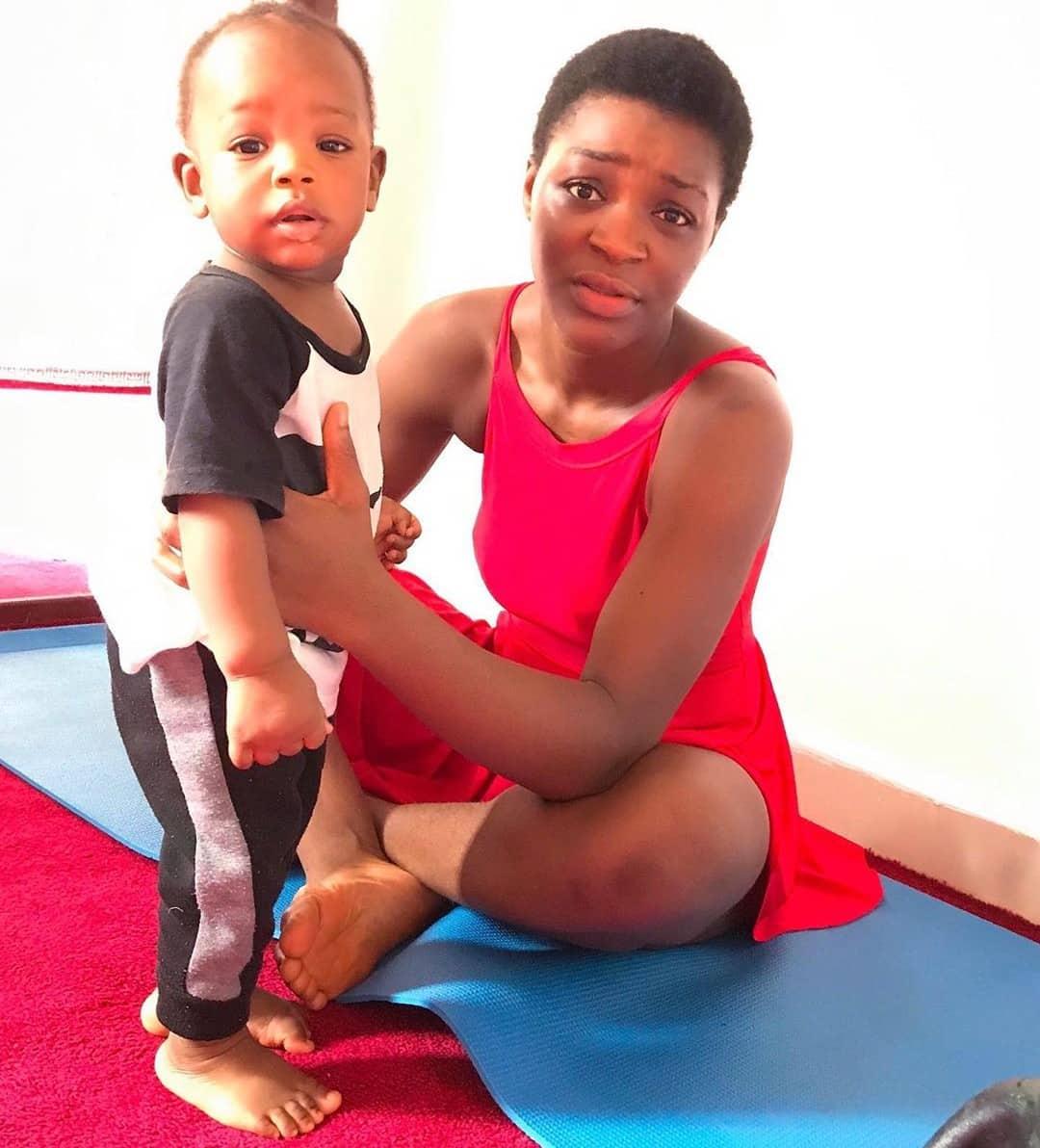 Chacha Eke Celebrates Son, Awesome On His First Birthday (Photos)