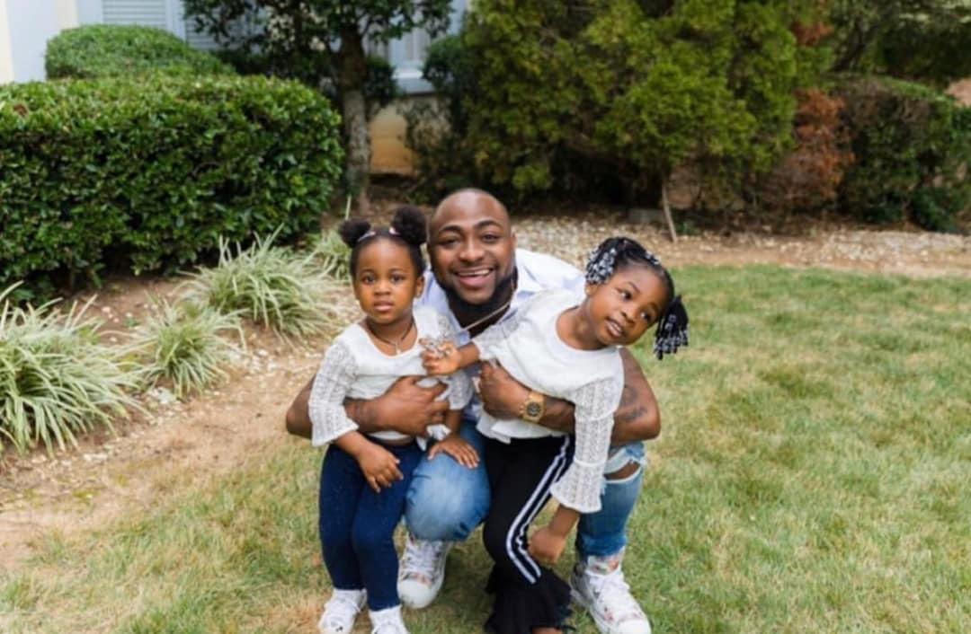 Davido's daughters, Imade and Hailey serve 'sibling goals' in new video