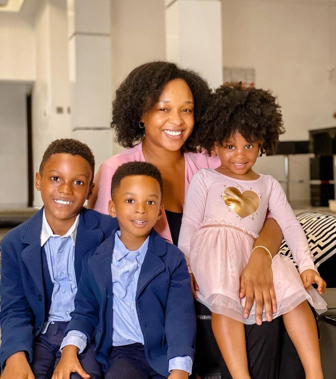 Paul Okoye's wife, Anita Celebrates 'International Family Day' With Her Kids (Photos)