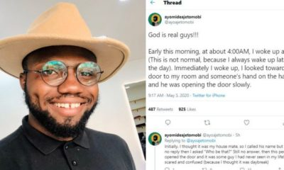 Man reveals how the blood of Jesus saved him from a robbery attack